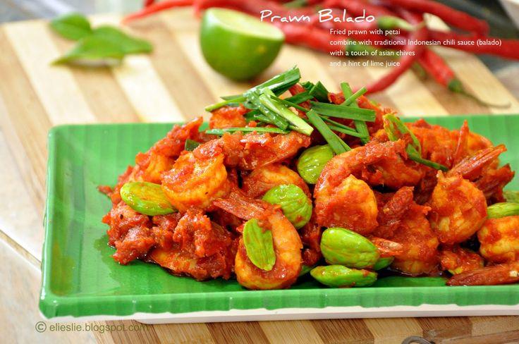 Prawn balado, Indonesian spicy fried prawn, west sumatera