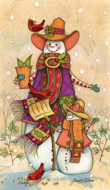 """""""Ladies Day"""" by Janet Stever, artist and illustrator, from the Snow Family Series."""