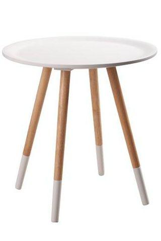 Wit Two tone bijzettafeltje / White Two tone table
