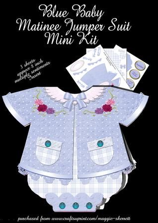 Blue Baby Matinee Jumper Suit on Craftsuprint - Add To Basket!