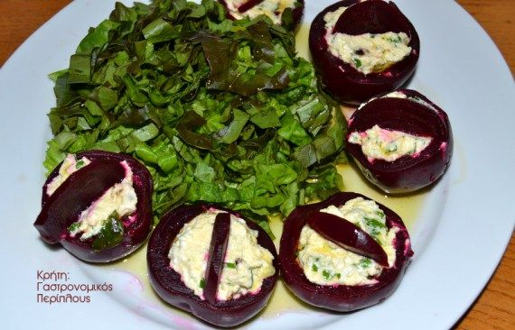 Παντζάρια γεμιστά με κρέμα τυριού ή γιαουρτιού