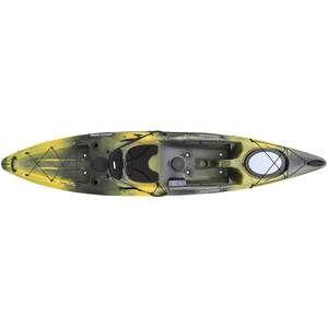 Drew: Pompano 120 Sit-On-Top Angler Kayak, Yellow/Black