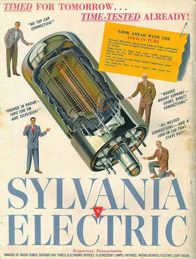 retro vintage modern hi-fi: Sylvania Electric - Time For Today Time Tested For Tomorrow
