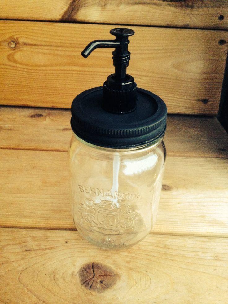 Diy Mason jar soap pump Wilsonandlou.wordpress.com
