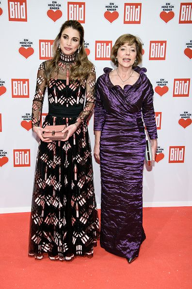 Royal Family Around the World: Queen Rania Al-Abdullah of Jordan attends the Ein Herz Fuer Kinder Gala 2016 on December 3, 2016 in Berlin, Germany.
