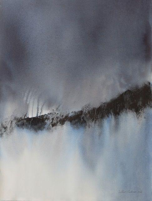"""""""Rupture"""" Aquarelle 56 x 73 cm Muriel Buthier-Chartrain / 2016 """"Break"""" Watercolor 56 x 76 cm Muriel Buthier-Chartrain / …"""