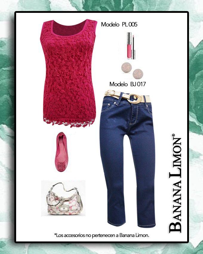 Arma tu outfit de primavera verano con una blusa y capri Banana Limon, compleméntalo con accesorios y lucirás a la moda.