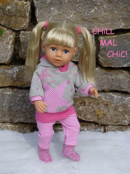 """Puppenkleidung – """"Chill mal chic!"""" 3tlg Set Gr.40-45cm – ein Designerstück von …"""