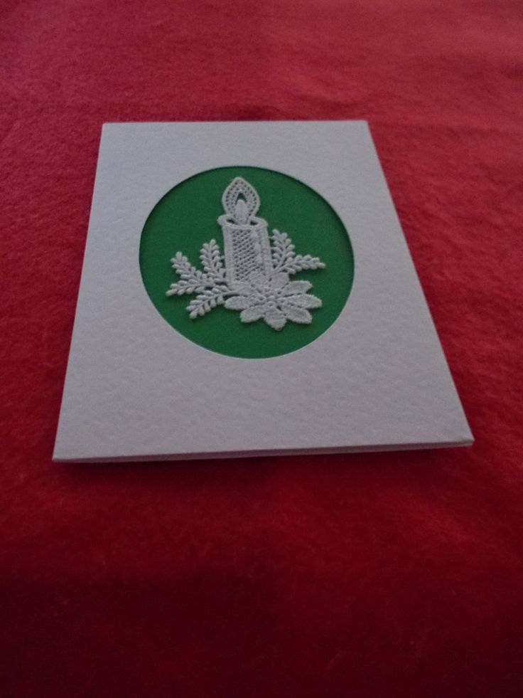 Greetings card with Belgian Lace Candle by ItstheGirlthing on Etsy