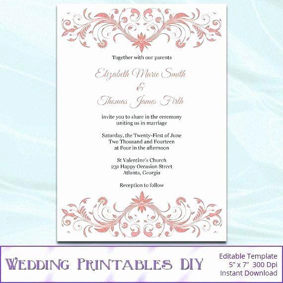 Microsoft Office Wedding Invitation Template Elegant Bes Diy Wedding Invitations Templates Wedding Invitation Templates Wedding Invitations Printable Templates