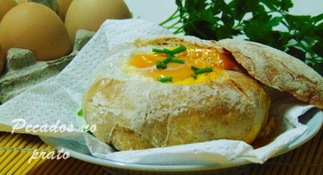 Pecados no prato: Pão recheado com ovo de microondas