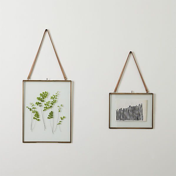 brass floating picture frames $29.95-39.95