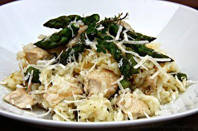 ♥ Máma v kuchyni ♥: Chřestové rizoto s kuřecím masem (od 9 měsíců)