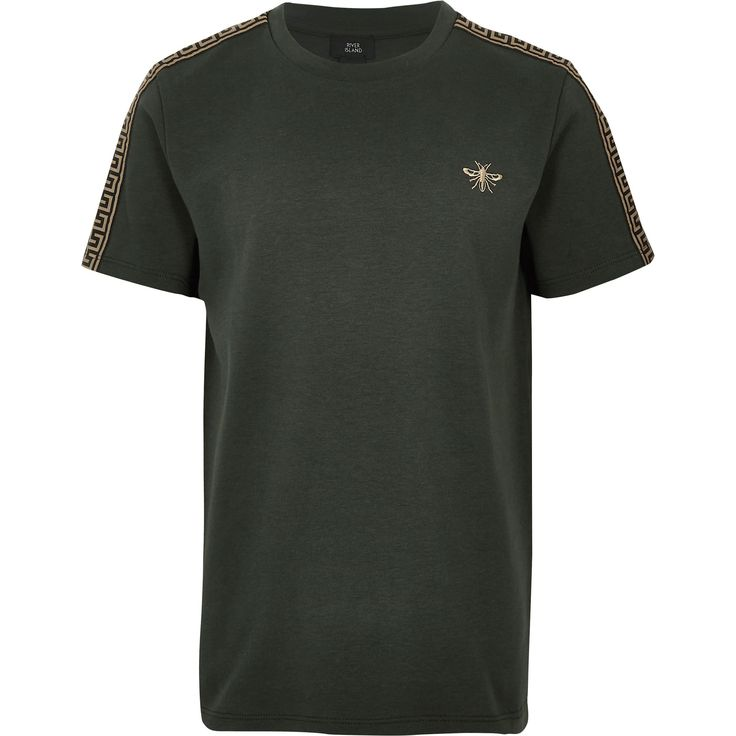 Boys khaki wasp embroidered T-shirt | Products in 2019 | T ...