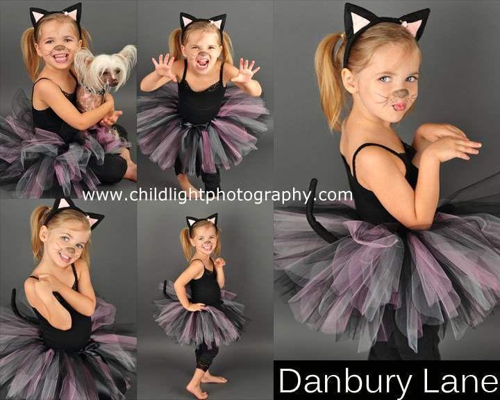 Traje de gato niñas niño Halloween Tutu conjunto por DanburyLane
