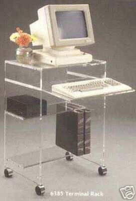 Acrylic Computer Terminal Stand /Laptop/Computer Desk | eBay $587