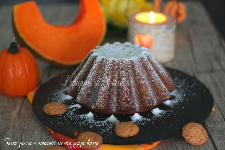 Torta+zucca+e+amaretti+ricetta+senza+burro+-+I+Sapori+di+Ethra