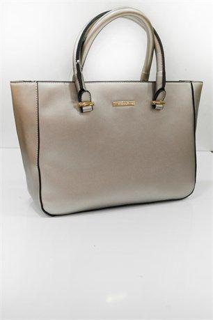 Parlak Gümüş Tutmalı Çanta - Gümüş - Can Bag çanta modelleri, sırt çantası, yılan derisi, tutmalı çanta, çanta markaala.com.tr #moda #fashion #diy #tesettür #çanta