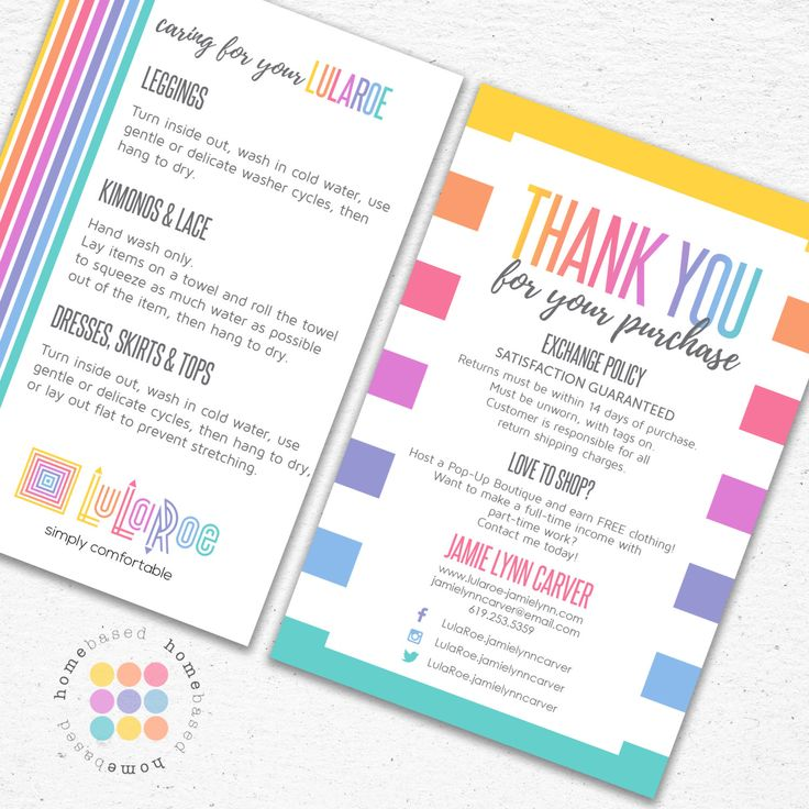 Thank You Care Card Postcard Designed For Consultants