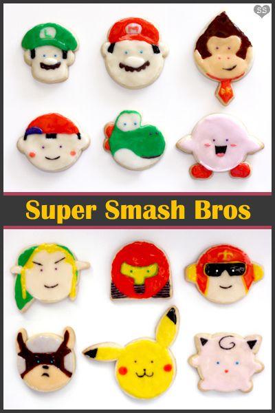 Super Smash Bros cookies by susannotsusie, via Flickr