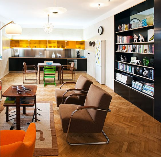 functionalist furniture, retro modern interior,