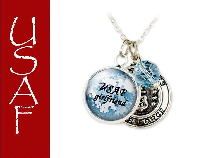 Air Force Jewelry - USAF Mom - USAF wife - USAF girlfriend - One day closer - Personalized Military Jewelry - deployment jewelry