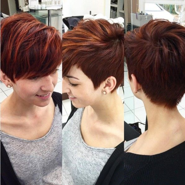 stilvoller Frisur Farbe für kurzes Haar - Pixie Haircut 2016
