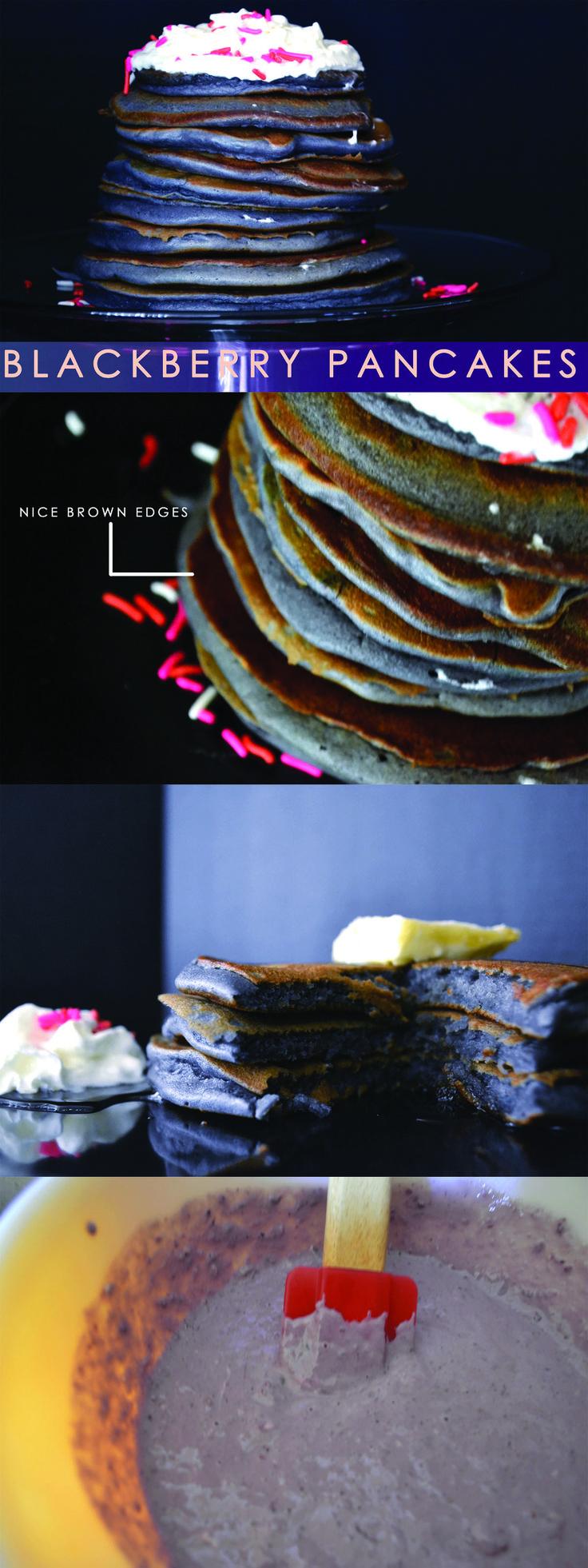 Blackberry Pancakes : Blog To Taste www.blogtotaste.com