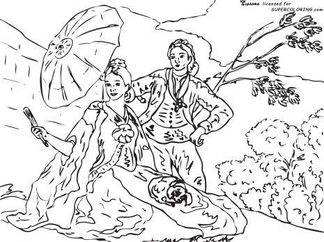 De Goya the Parasol coloring page