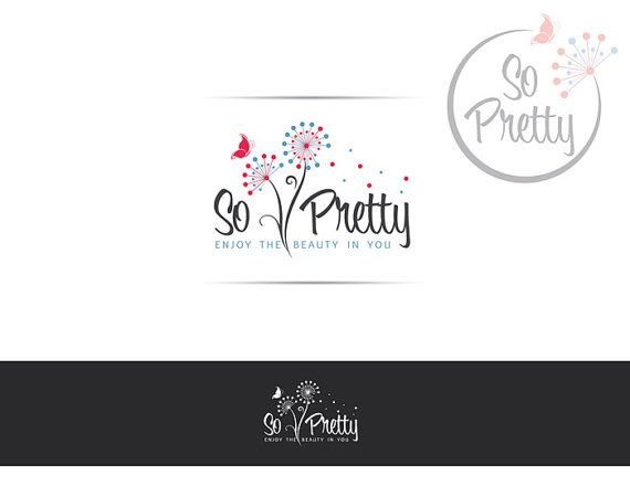 Professional Logo Design at a fraction of the cost. Customize this logo for your own business. #skincare #Watermark #logo #logostore #brandidentity #logodesign #graphicdesign #designer #needlogo #designer #logodesign #logodesigner #etsy #dandelion #colorful #cute #customdesign #branding #pink #teal