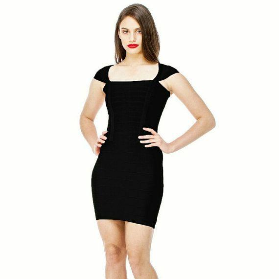 Black Dress-Square Neck Red Dress