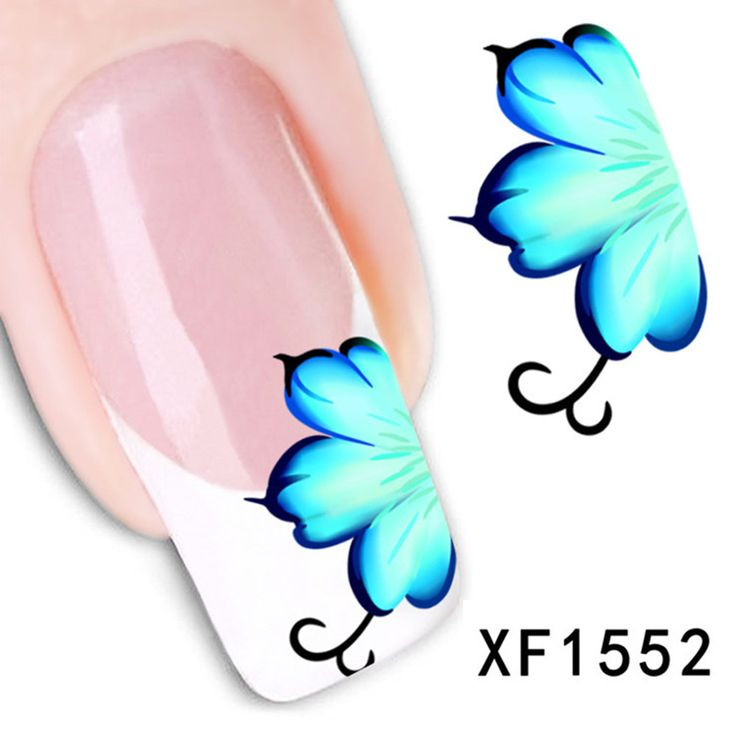 Beautiful designs and elegant colors Water Transfer Nail Art Stickers Decal Decoration Nail Salon DIY XF1552