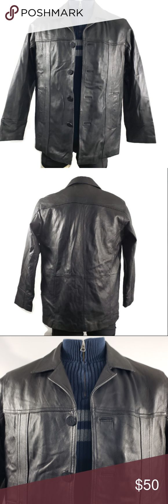 Wilson M. Julian very soft leather jacket buttons in 2020