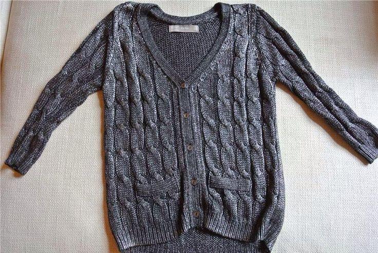 Ny Silver Grå Metall Kofta Cardigan Zara Medium på Tradera.com -