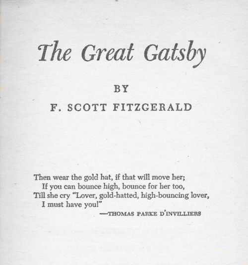 characters in the great gatsby by f scott fitzgerald F scott fitzgerald:  f scott fitzgerald, in full francis scott key fitzgerald,  library notes - f scott fitzgerald and the great gatsby.