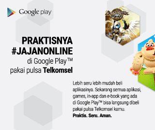 Cara Membeli Aplikasi dan Game di Google Play Store Dengan Menggunakan Pulsa Telkomsel