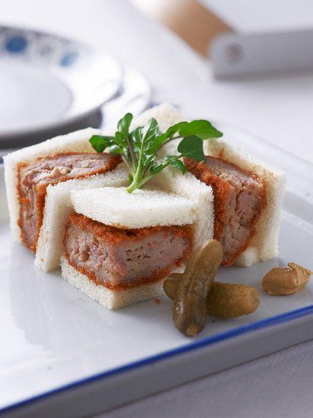 Recipe : メンチカツサンド #レシピ #サンドイッチ