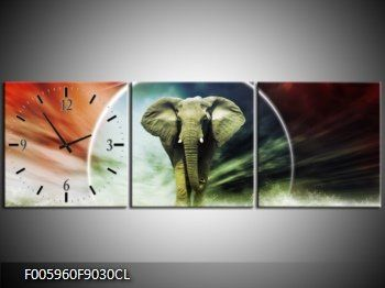 Canvas Klok Olifant