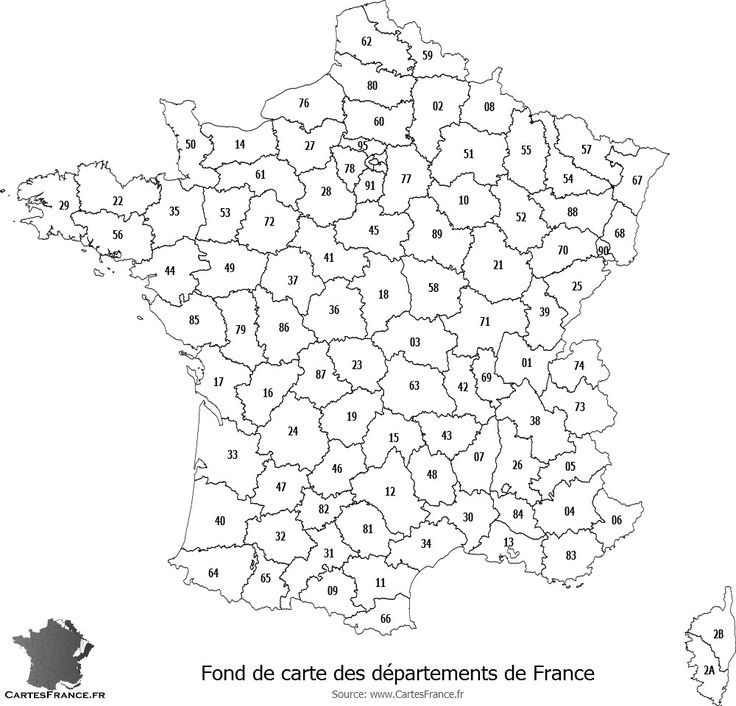 Fond de carte des d partements de france fond de cartes for B b carte france