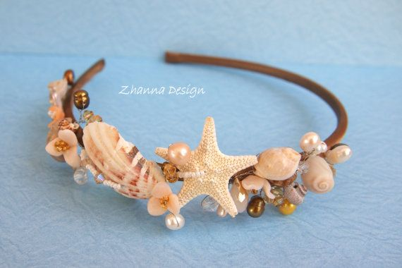 Seashell Wedding Headband ETSY $42- beach wedding