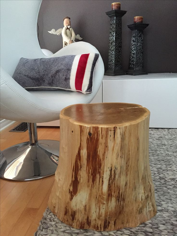 Stump Side Table, Log Furniture, Tree Trunk Table, Eco-Friendly Furniture,