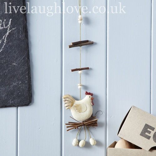 Hanging Hen On Nest Decoration