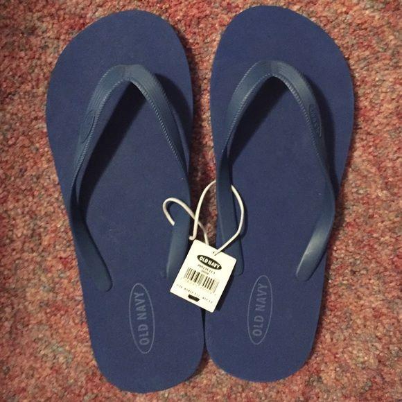 Blue flip flops Never worn with tags, royal blue flip flops. Old Navy Shoes Sandals