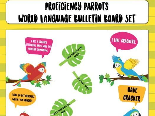 "World Language Proficiency Parrots  ""Lesson on World Languages"" ""elementary"" ""middle school"" ""high school"""