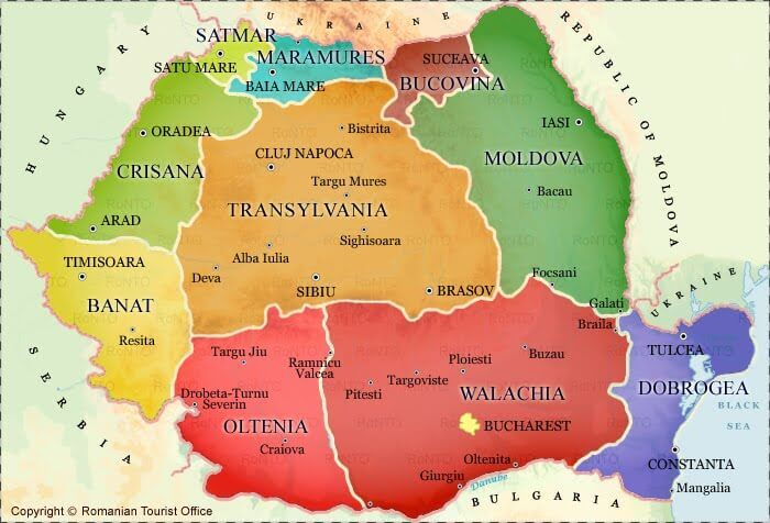 On How To Get To Transylvania Carte Des Regions Roumanie Et
