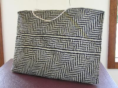 """Rau Kumara (100 kurmara) kete by Sonia Snowden - Quote from Veranoa Hetet on facebook - """"An appropriate pattern to weave for someone who cares for, nurtures, feeds people"""""""