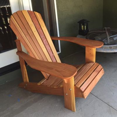 I bought your adirondack chair plans quite a while back. The good news is that I finished one - my first project ever! And it is beautiful and comfortable to sit in......I'm almost ready to assemble the second. Thanks!  Cori