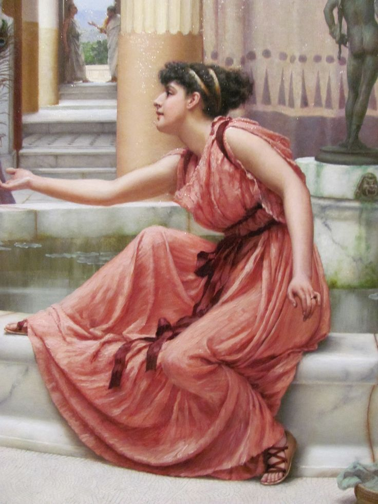 https://flic.kr/p/9jyMx1 | John William Godward | (detail) Innocent Amusements, 1891. Oil on canvas (1861-1922) Stanford Museum
