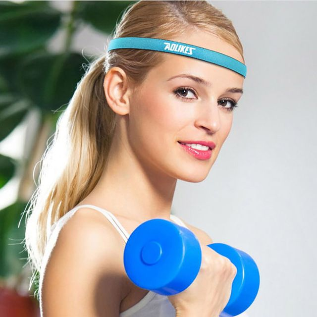 Unisex Anti-Slip Yoga Hair Band Elastic Sweatband Sports Running Headband