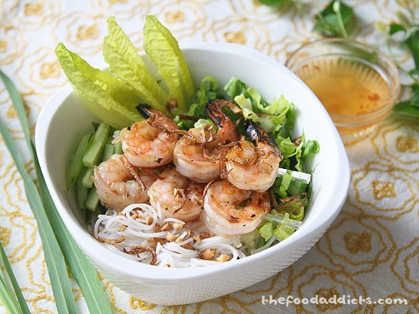 Grilled Lemongrass Shrimp Vermicelli ..... one of my ...